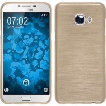 Silikonhülle für Samsung Galaxy C5 brushed gold