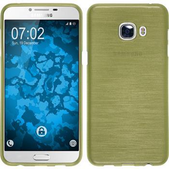 Silikon Hülle Galaxy C5 brushed pastellgrün