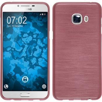 Silikonhülle für Samsung Galaxy C5 brushed rosa