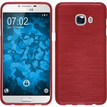 Silikon Hülle Galaxy C5 brushed rot