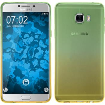 Silikon Hülle Galaxy C7 Ombrè Design:03 + 2 Schutzfolien