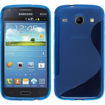 Silikon Hülle Galaxy Core S-Style blau