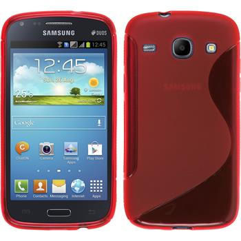 Silicone Case for Samsung Galaxy Core S-Style red
