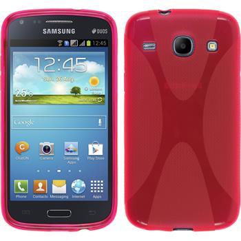 Silikon Hülle Galaxy Core X-Style pink