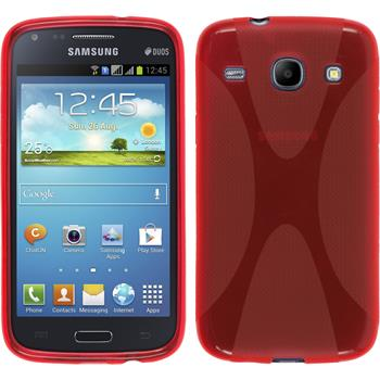 Silikon Hülle Galaxy Core X-Style rot