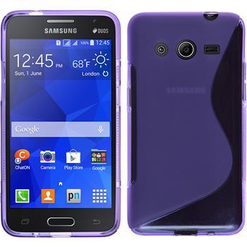 Silikon Hülle Galaxy Core 2 S-Style lila