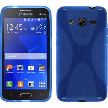 Silikonhülle für Samsung Galaxy Core 2 X-Style blau
