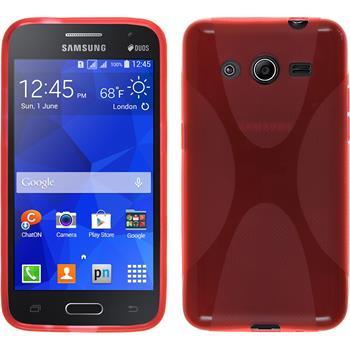 Silikon Hülle Galaxy Core 2 X-Style rot