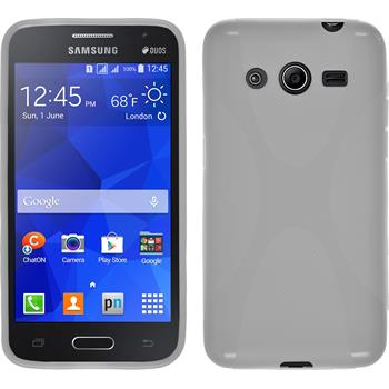 Silikonhülle für Samsung Galaxy Core 2 X-Style weiß
