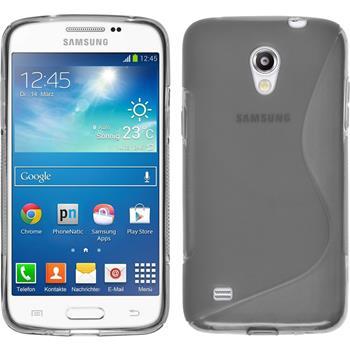 Silikon Hülle Galaxy Core Lite S-Style grau