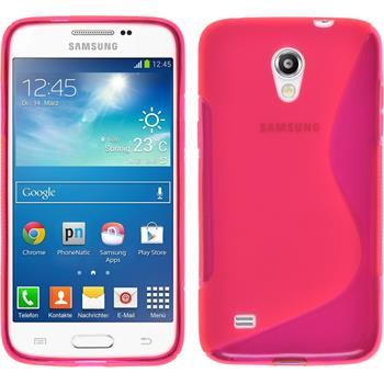 Silikon Hülle Galaxy Core Lite S-Style pink + 2 Schutzfolien