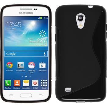 Silikon Hülle Galaxy Core Lite S-Style schwarz