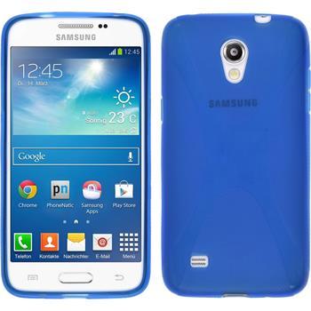 Silikon Hülle Galaxy Core Lite X-Style blau
