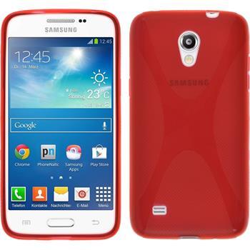 Silikon Hülle Galaxy Core Lite X-Style rot