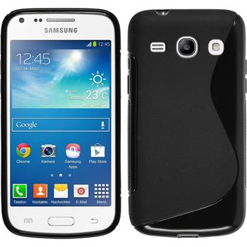 Silikon Hülle Galaxy Core Plus S-Style schwarz