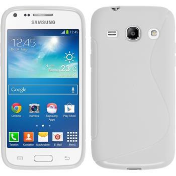 Silikon Hülle Galaxy Core Plus S-Style weiß