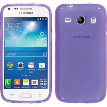 Silicone Case for Samsung Galaxy Core Plus X-Style purple