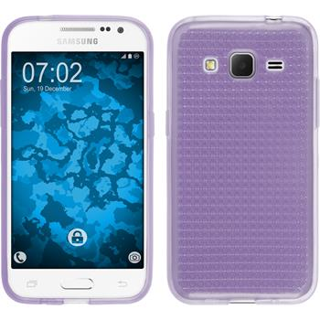 Silikon Hülle Galaxy Core Prime Iced lila