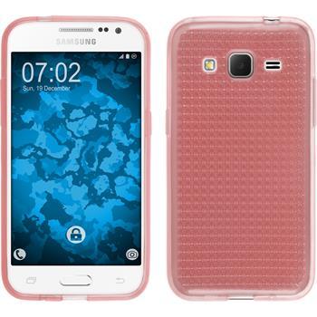 Silikonhülle für Samsung Galaxy Core Prime Iced rosa