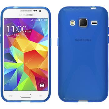 Silikon Hülle Galaxy Core Prime X-Style blau