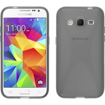 Silikon Hülle Galaxy Core Prime X-Style grau