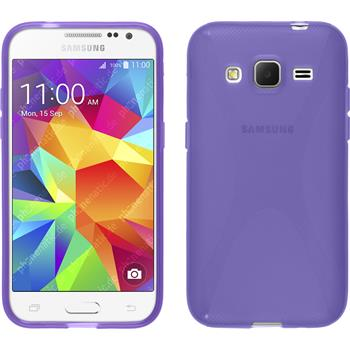 Silikon Hülle Galaxy Core Prime X-Style lila