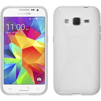 Silikon Hülle Galaxy Core Prime X-Style weiß