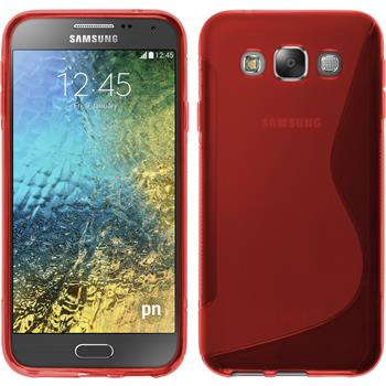 Silikon Hülle Galaxy E5 S-Style rot
