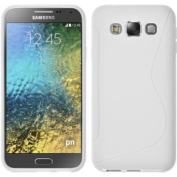 Silikon Hülle Galaxy E5 S-Style weiß