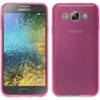 Silikon Hülle Galaxy E5 transparent rosa