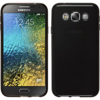 Silikonhülle für Samsung Galaxy E5 transparent schwarz