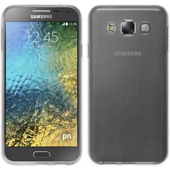 Silikon Hülle Galaxy E5 transparent weiß