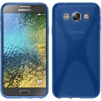 Silikon Hülle Galaxy E5 X-Style blau