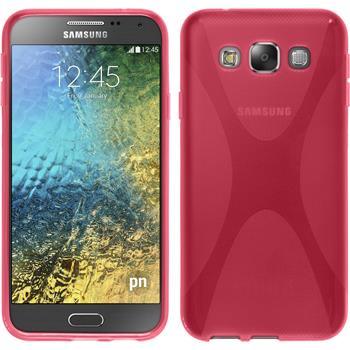 Silikonhülle für Samsung Galaxy E5 X-Style pink