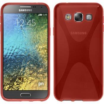 Silikon Hülle Galaxy E5 X-Style rot