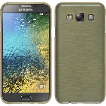Silikonhülle für Samsung Galaxy E7 brushed gold