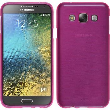 Silikon Hülle Galaxy E7 brushed pink