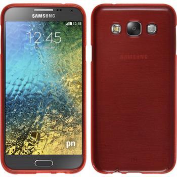 Silikon Hülle Galaxy E7 brushed rot