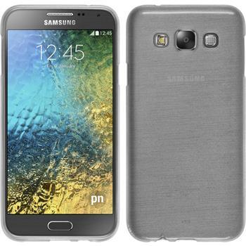 Silikon Hülle Galaxy E7 brushed weiß