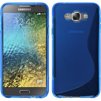 Silikon Hülle Galaxy E7 S-Style blau