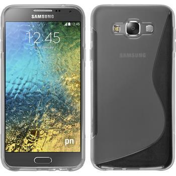 Silikon Hülle Galaxy E7 S-Style grau