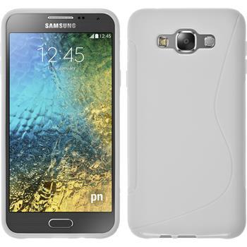 Silikon Hülle Galaxy E7 S-Style weiß