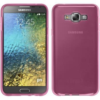 Silikon Hülle Galaxy E7 transparent rosa