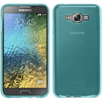 Silikon Hülle Galaxy E7 transparent türkis
