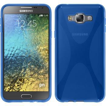 Silikon Hülle Galaxy E7 X-Style blau