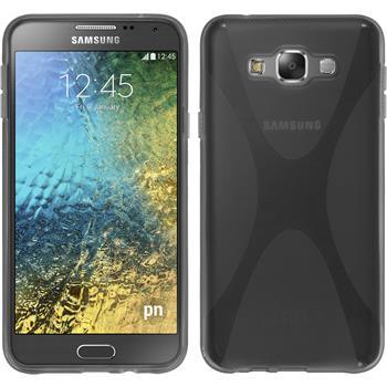 Silikon Hülle Galaxy E7 X-Style grau