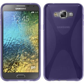 Silikon Hülle Galaxy E7 X-Style lila
