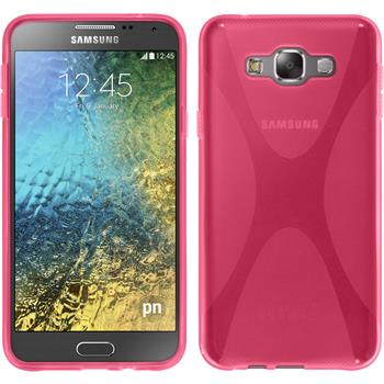 Silikon Hülle Galaxy E7 X-Style pink