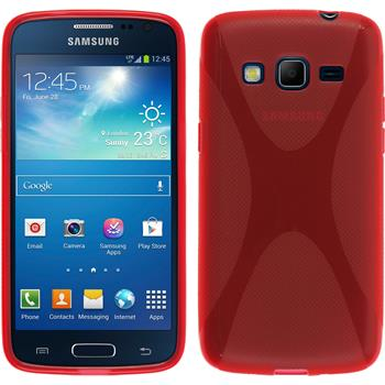 Silicone Case for Samsung Galaxy Express 2 X-Style red