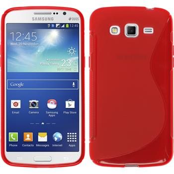 Silikon Hülle Galaxy Grand 2 S-Style rot